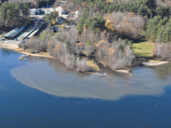 Sedimentation of the English Brook delta in Lake George in November 2010 Courtesy the Lake George Association
