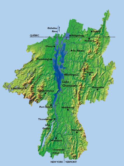 Lake Champlain Good News And Not So Good News The - Us map lake champlain