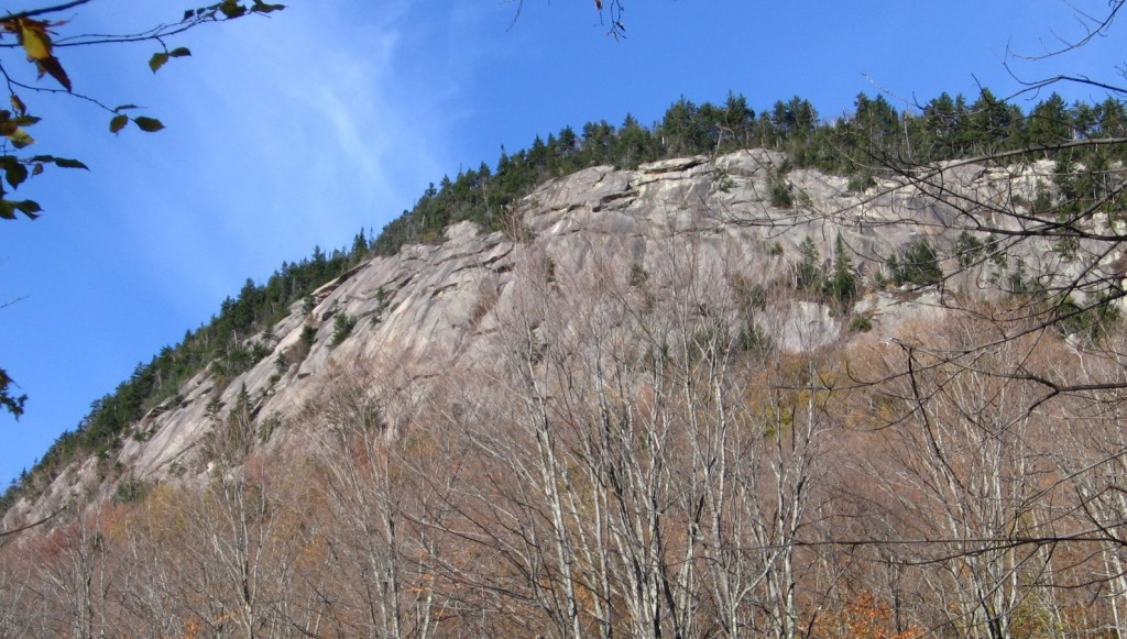 The cliffs on Sugarloaf Mountain in the Adirondack Park.