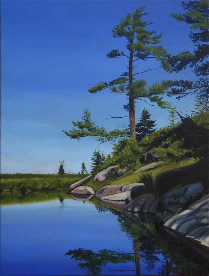 High Rock, oil painting by Sandra Hildreth