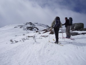 Backcountry skiers on Mount Marcy