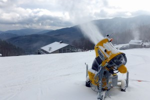 Snowmaking at Whiteface on Wednesday, Dec. 12