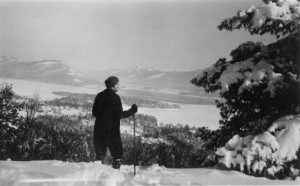 John Apperson Overlooking Lake George (Adirondack Research Library Photo)