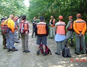 Greg giving briefing to CASART members