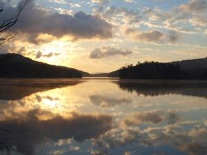 Moshier Reservoir at dawn