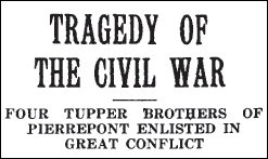 Tupper family headline 1918