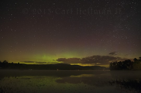 Brant Lake Northern Lights (5-18-2013) Carl Heilman Photo