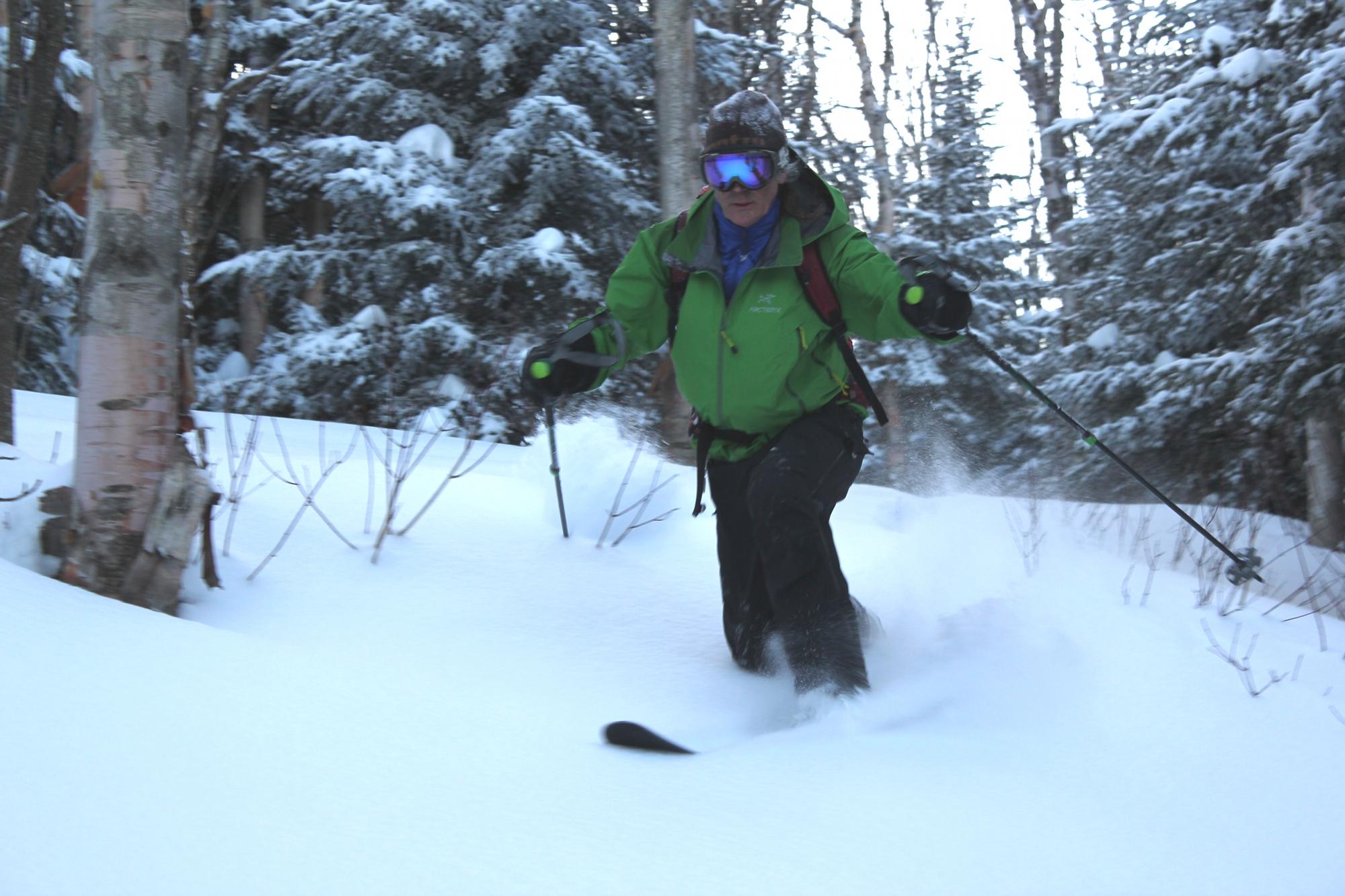 Ron Konowitz skis on Lyon Mountain