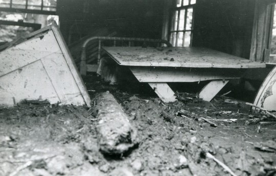 Inside the P.A. after the flood