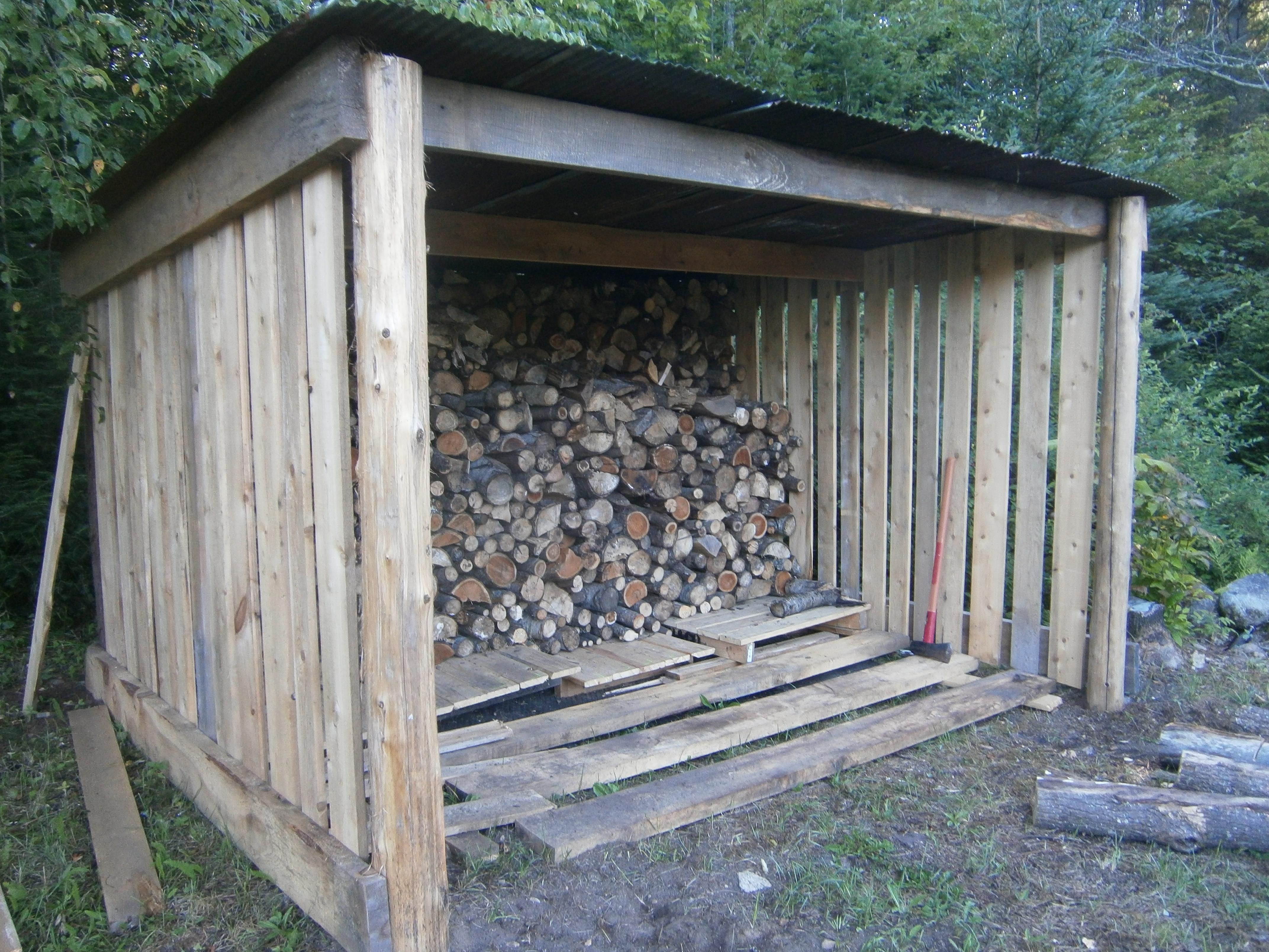 Srp Enterprises Weblog: Cabin Life: Building A New Wood Shed