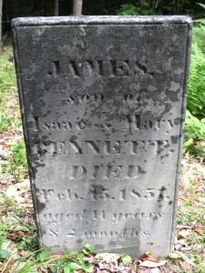 Gravestone at Adirondac