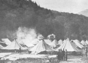 1913 Army Tents at the Foot of Giant