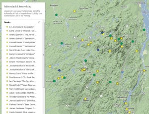Adirondack Literary Map