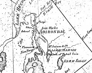 Tubal Cain on North Elba 1858 Land Map