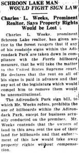 Weeks 1924 Sign Law Billboards