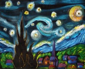 Black Velvet Stary night -painting by Rick Butto 2012 copy