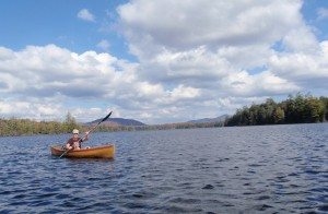 Photo of Sue Bibeau on Third Lake by Phil Brown