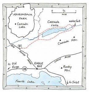 cascade lake near inlet map by Nancy Bernstein