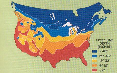 frost line depth map New York - The Adirondack Almanack - The ...