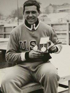 Jack Shea With A Gold Medal At the 1932 Olympics