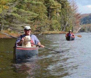 Mike Carr paddles Third Lake (Susan Bibeau Photo)