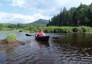 Paddling the mouth of the Goodnow River near the Hudson (Phil Brown Photo)