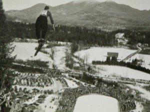 Ski jumping in lake Placid