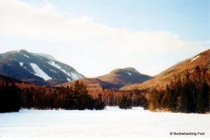 Winter view from Marcy Dam