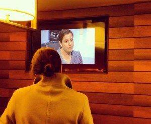 Elise Stefanik watches herself on TV