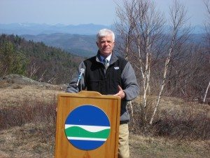 DEC Commissioner Joe Martens dedicates a new addition to the Forest Preserve above Lake George in 2013