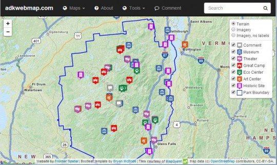 Adirondack Web Map