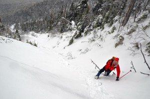 Alan Wechsler on Santanoni Mountain's Twin Slide