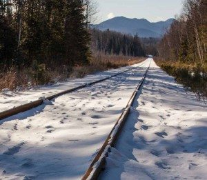 Adirondack Railroad in Winter (Nancie Battaglia)