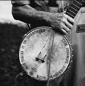 Pete Seeger Banjo Photo