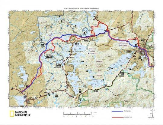 Rail Trail - Rail With Trail Map