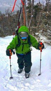 Ron ascending Wright Peak