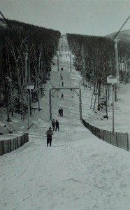 T-Bar Lift Whiteface, early 1950's