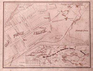 1897 P418 Map Old Forge village forge house 026