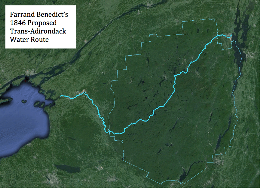 Farrand Benedict's Trans-Adirondack Water Route