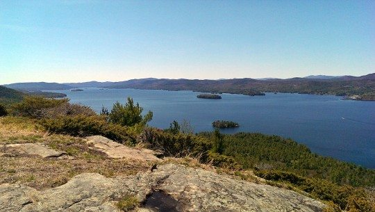 Lake George from Shelving Rock mountain