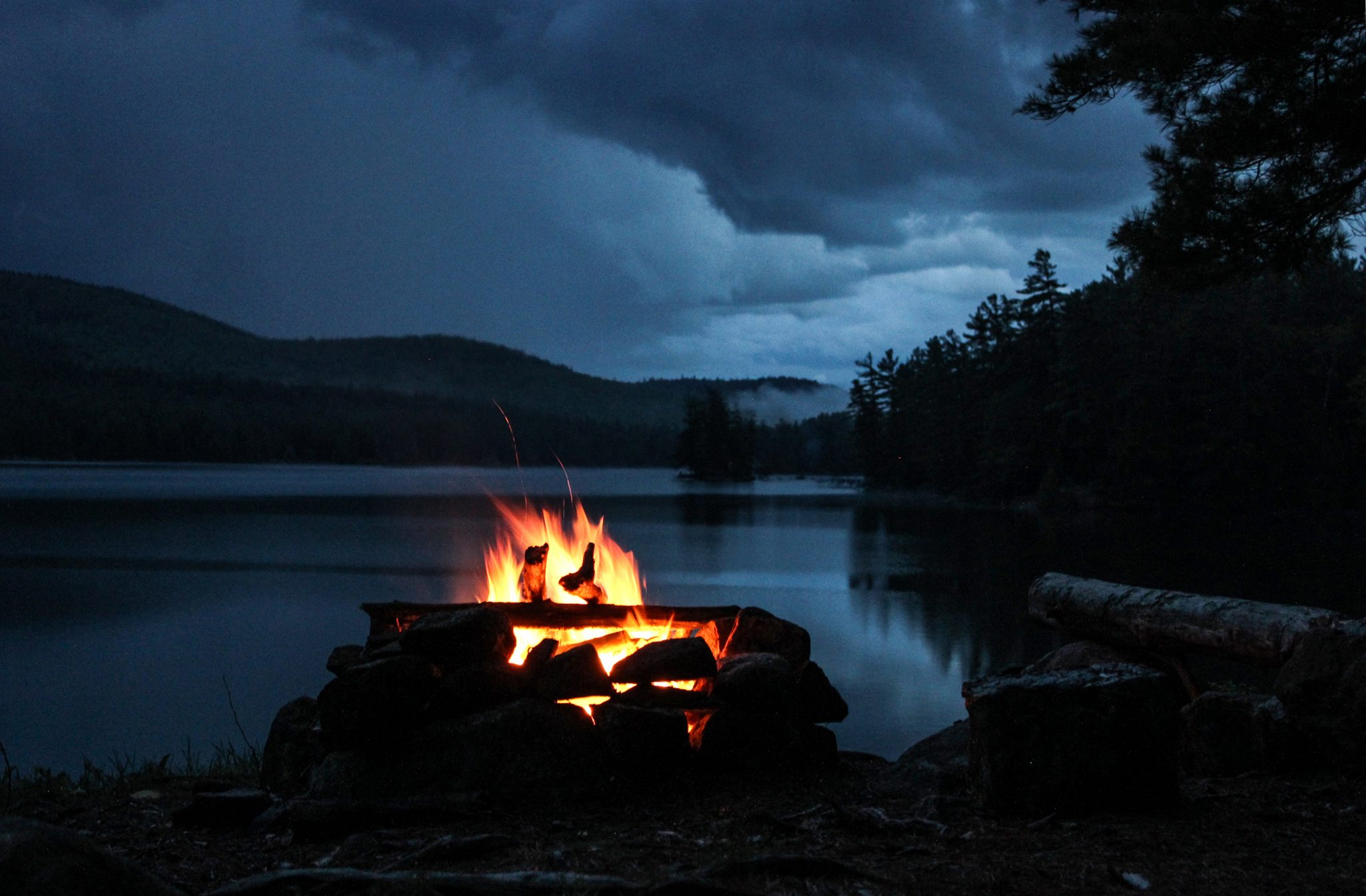 Pharaoh lake wilderness a campfire between storms for Night fishing spots near me