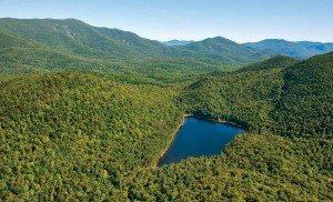Lake Andrew, near the Santanoni Range, by Carl Heilman II