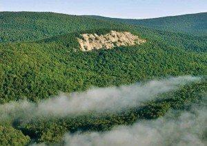 The cliffs of Sugarloaf Mountain near Indian Lake by Carl Heilman II