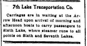 7th lake adirondack news ad 1900