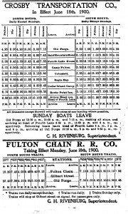 fulton chain rr boat adirondack news ad 1900