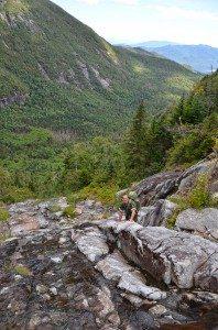 Grand Central Slide-Forest Ranger Scott van Laer near the central section of the slide.