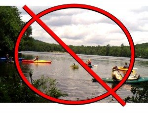 2013 at Limekiln Lake paddlers disturb nesting loons