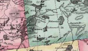 Map of Tupper's Lake 1879, Ely Map