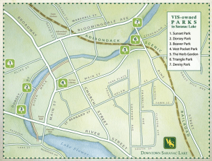 Saranac Lake VIS Parks Map