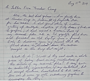 Letter from Thacher Camp